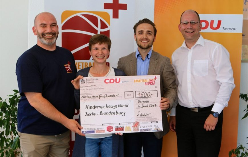 Barnim Charity Cup – 1500 Euro übergeben