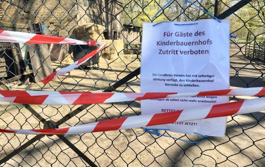 Landkreis Barnim schließt Kinderbauernhof Börnicke